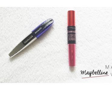 Battle #1 : mascara  Push up Drama de Maybelline  VS  Faux cils papillon Sculpt de L'Oréal