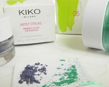 ARTIST STROKE EYESHADOW-KIKO // Swatches & Avis (très mitigé)