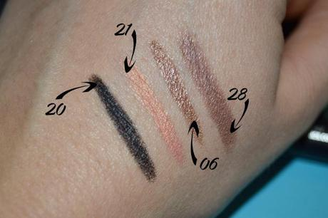 Swatches long lasting stick // Kiko