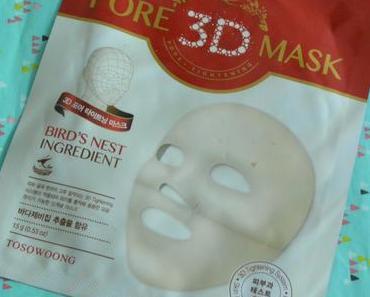 Le masque tissus « 3D pore » à mémoire de forme de Tosowoong