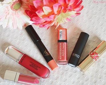 Top 6 du printemps pour mes lèvres.