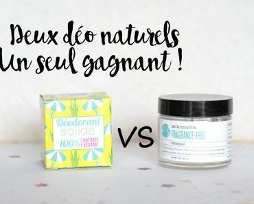 Battle de déodorants naturels - Schmidt's VS Lamazuna
