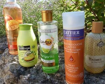 Ma sélection de gels douche pour l'été