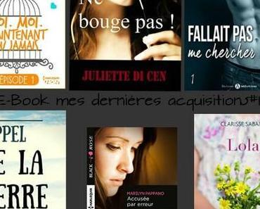 E-Book: mes dernières acquisitions #1