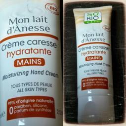 Crème caresse hydratante « Mon lait d' Ânesse » pour les mains…So'Bio étic
