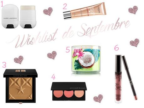 Wishlist de Septembre