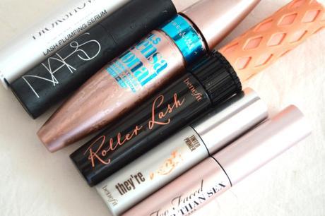 Mascaras terminés : Dior, Benefit, Maybelline, Too Faced, Nars