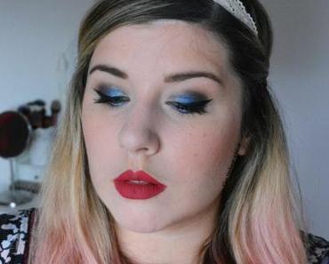 Crazy Blue Makeup {Moondust Palette}