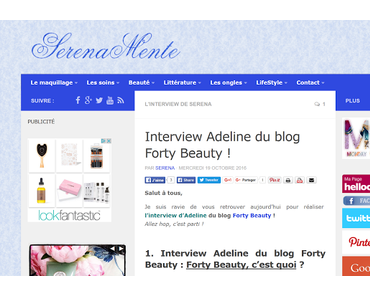 Mon interview par Serenamente