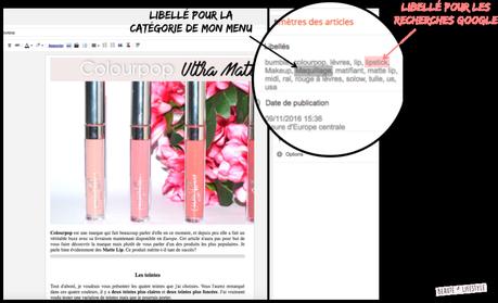 Comment fonctionnent les libellés sur Blogger?