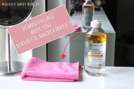 Se démaquiller avec une serviette microfibres ? 😮
