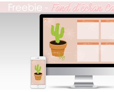 Fond d'écran Cactus pour téléphones et ordinateurs - Freebie