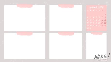 Desktop Wallpaper Planner - Freebie