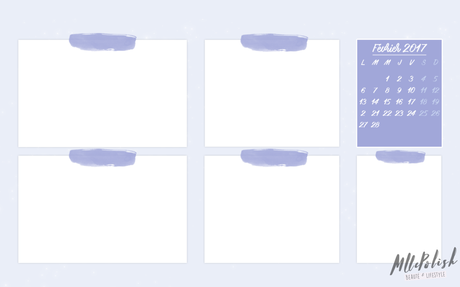 Desktop Wallpaper Planner Février 2017 - freebie
