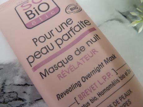 Mention très bien pour le Masque de nuit Révélateur So'Bio Etic