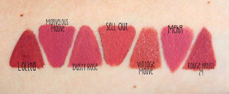 Mes Rouges à Lèvres Nudes Favoris