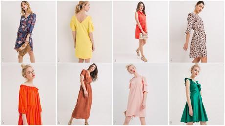 Osez les robes de couleur avec Promod