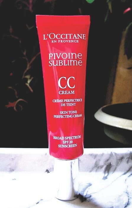 Mon teint rosit de plaisir avec la CC crème Pivoine Sublime de L'Occitane