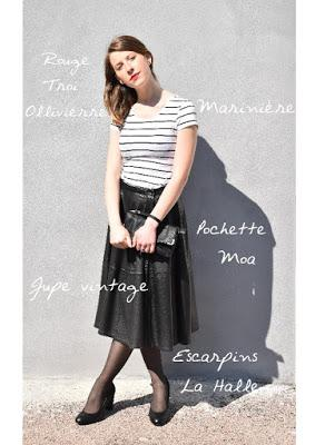 [MODE] Jupe vintage et look so frenchy !