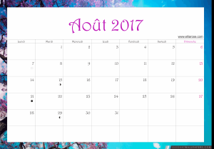 août 2017 calendrier ellia rose paysage