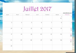 juillet 2017 calendrier ellia rose paysage