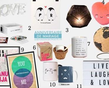 Des idées cadeaux pour un anniversaire de mariage ! *