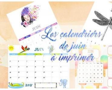 Les calendriers de juin à imprimer pour les petits et les plus grands !