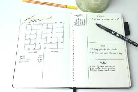June Bullet journal 🔖| Plan the month with me