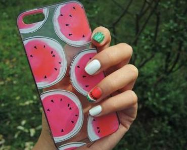 🍉 Watermelon nail art 🍉
