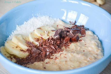 Porridge fondant banane-vanille