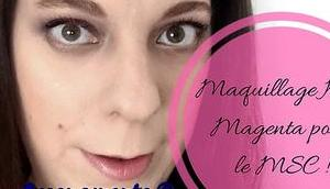 Maquillage Kaki Magenta pour l'association difficile