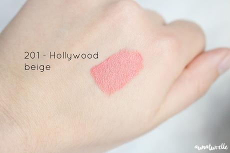 swatch lip paint matte l'oréal 201 hollywood beige