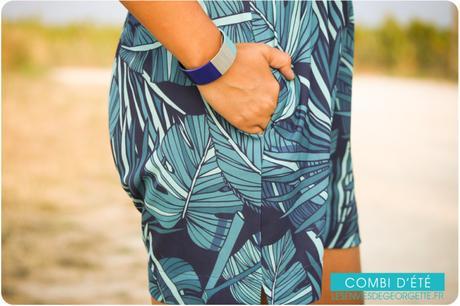La combishort bleue tropicale