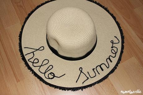 DIY chapeau hello summer