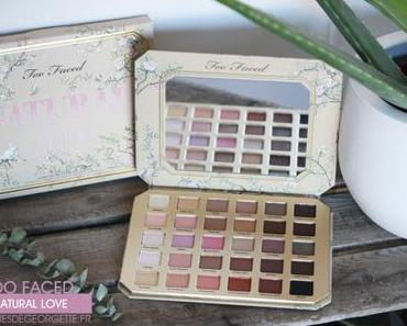 Palette Natural Love de Too Faced #swatch