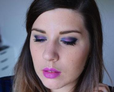 Deep Blue & Pink Makeup {Full Spectrum d'Urban Decay}