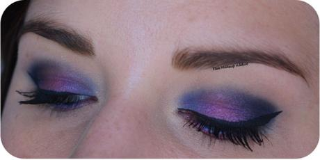 Deep Blue & Pink Makeup {Full Spectrum d'Urban Decay}