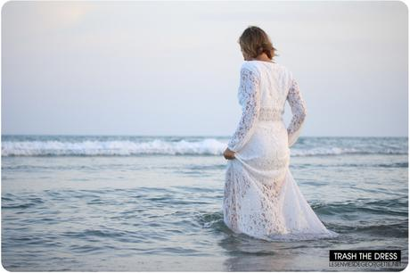 Trash the Dress : ma robe longue blanche d'été en dentelle