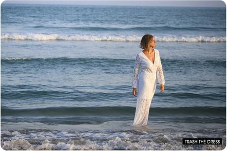 Trash the Dress : ma robe longue blanche d'été en dentelle