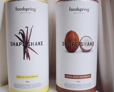 J'ai testé les shape shakes Foodspring!