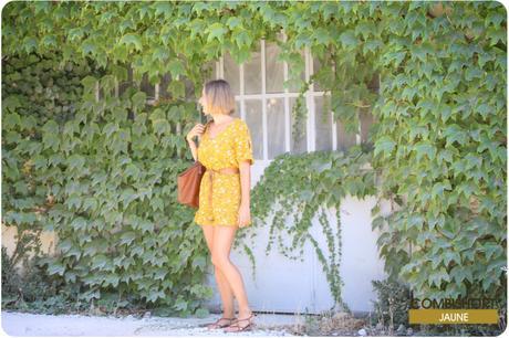 Une combishort jaune pour prolonger l'été !