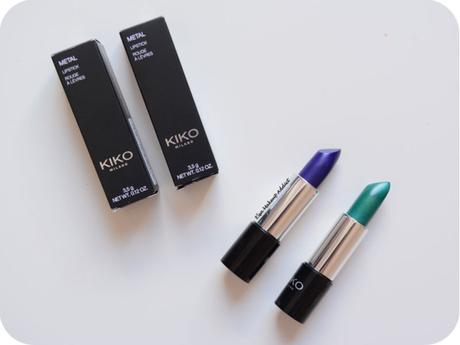 Des LÈVRES MÉTALLIQUES à PETIT PRIX ? Les Metal Lipstick de Kiko !