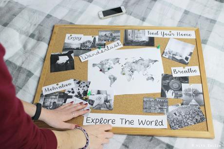 How to make a Motivation Board 💭 | Faire un tableau d'inspiration