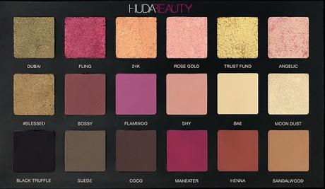 La merveilleuse Palette Rose Gold édition de HUDABEAUTY