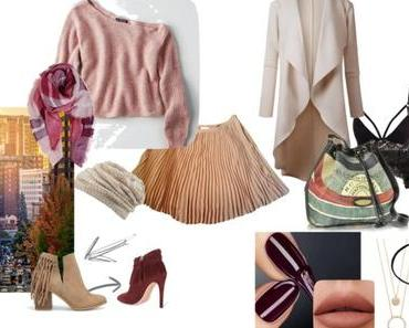 Beige ou bordeaux / FALL'S LOOK /