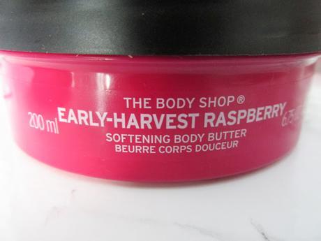 Beurre corporel à la Framboise de The Body Shop une dose de fruit pour l'année
