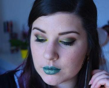 Makeup KAKI & JAUNE avec la SAINT + SINNER de Kat von D