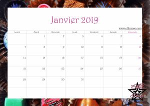 ✰ Calendrier gratuit à imprimer Chocolats 2019 ✰