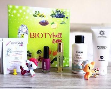 La Biotyfull box de mars 2018 ! « Coup de pouce »