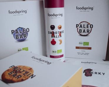 Foodspring, nouveaux tests! [Barre paléo, barre protéinée, smoothie balls et beef jerky]